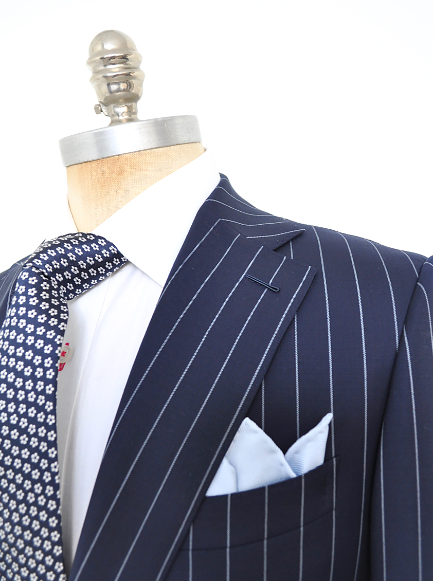 Bright Navy Pinstripe Suit