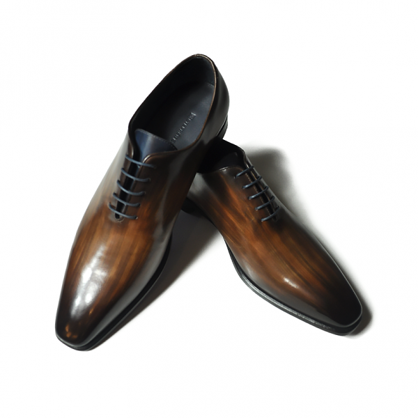 Brown Patina Wholecut Handmade Leather Shoes on Sale